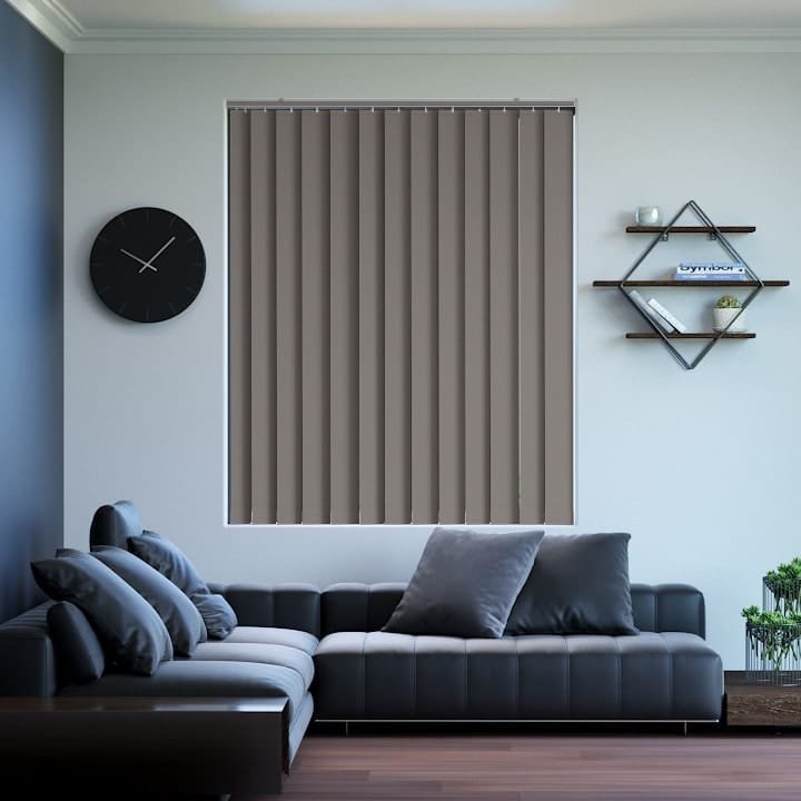 Coffee Prime Blockout Vertical Blinds