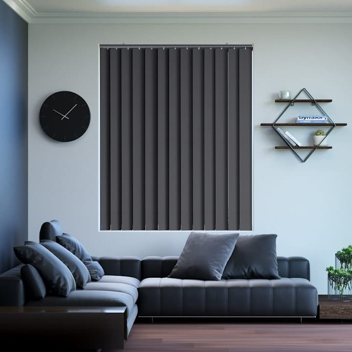 Charcoal St Clair Dimout Vertical Blinds