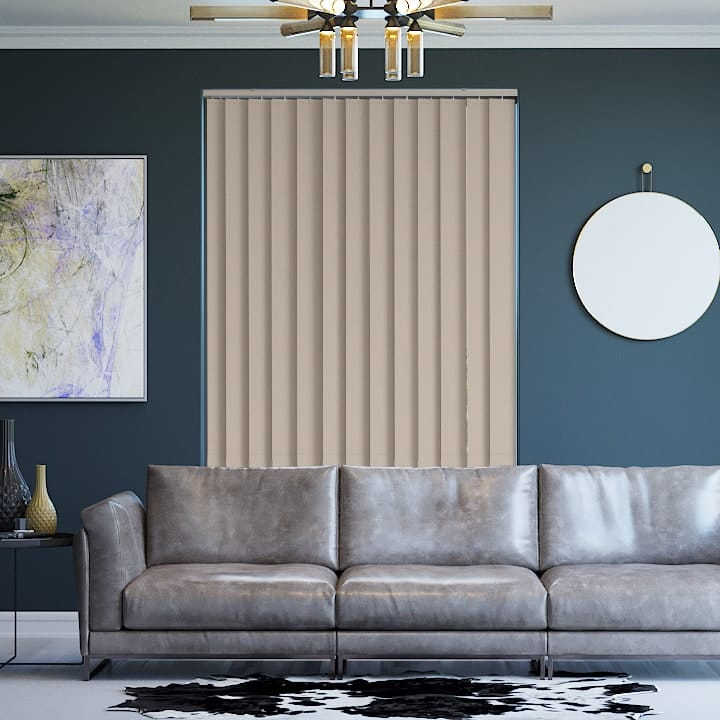 Latte St Clair Dimout Vertical Blinds