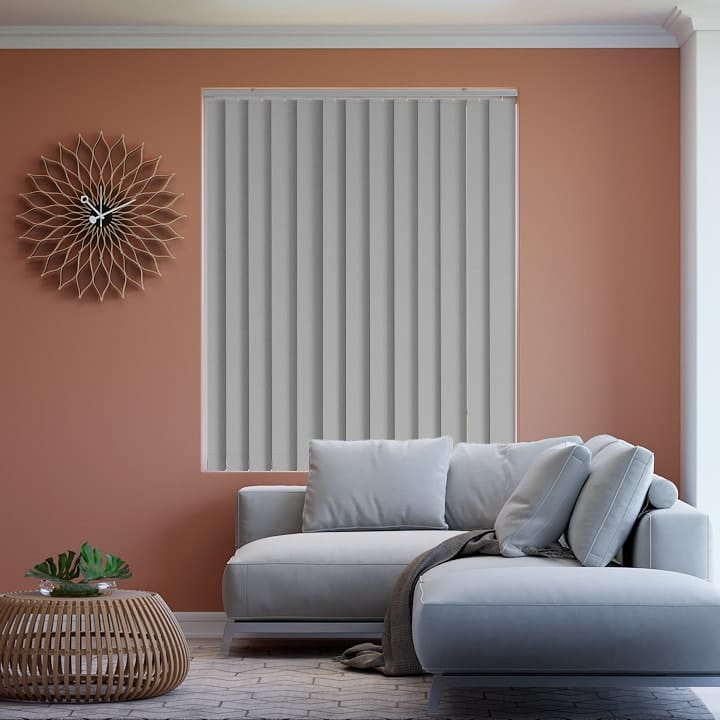 Pale-Grey St Clair Dimout Vertical Blinds