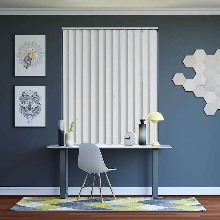 White St Clair Dimout Vertical Blinds