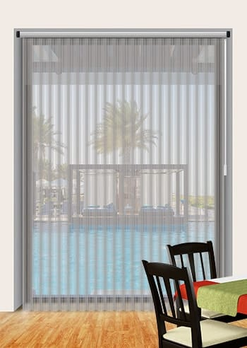 Vertical Sheer Curtain With A Blind Functionality
