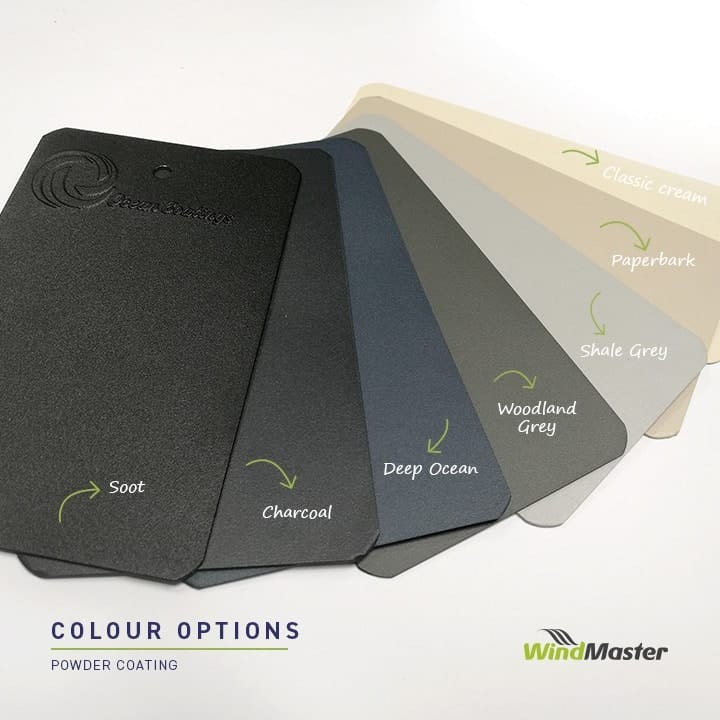 Windamster Outdoor Blinds Paint Options